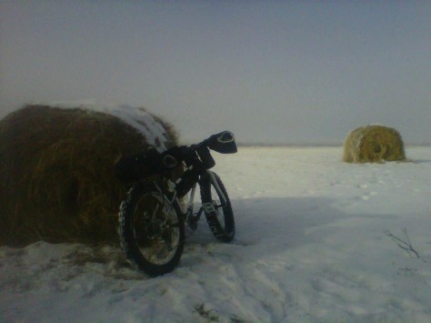 Fat bike by Wheat Bale