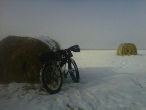 Fat bike by Wheat Bale