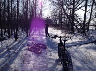 Wpg Whyteout - Fat Forty Fest 2016 - Sunbeam on trail