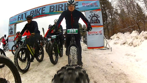 2016 Fat Bike Birkie - Rear Cam Screencap 1