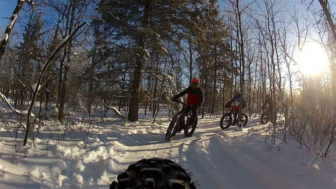 "Great Fatbike Riding at the Bur Oak Trail (now ""Oak Ridge"" Trail)"