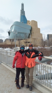 Bradley D. Paul and Gregory C. McNeill, hanging out on the bridge!