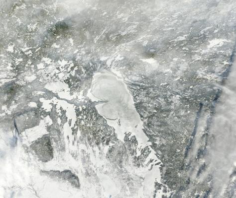 Satellite image of Lake Winnipeg - courtesy Bradley D. Paul. Bradley is a physicist who works on imaging for Google Earth.