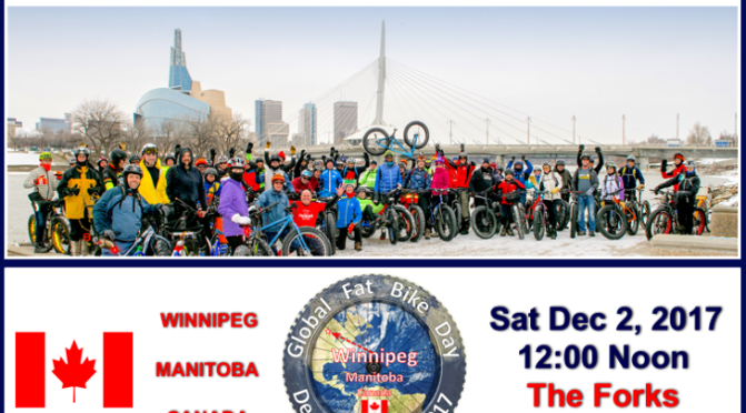 2017 Winnipeg Global Fat Bike Day Ride – 12 Noon Sat 2 Dec 2017