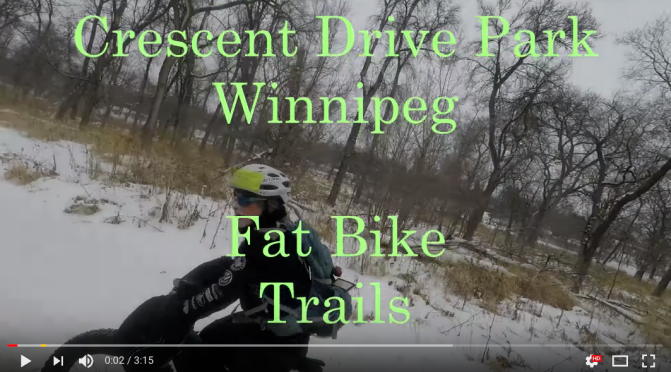 Lindsay's 'Secret' Fat Bike Trail:  Crescent Drive Park