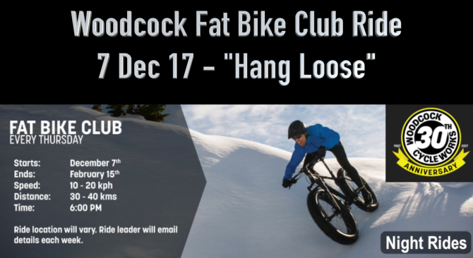Fat Video Time:  'Hang Loose' Woodcock Fat Bike Club Ride