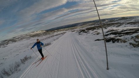 2017 Fat Viking Race Pics - passing XC skier 2