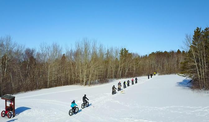 Awesome Group Fatbike Ride & BBQ at Grand Beach Prov Park
