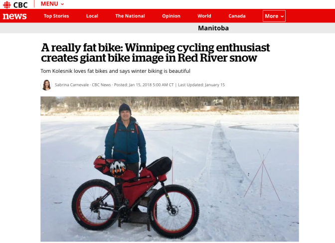CBC Reports: Huge Fatbike on the Red River draws attention to the Fatbike Community