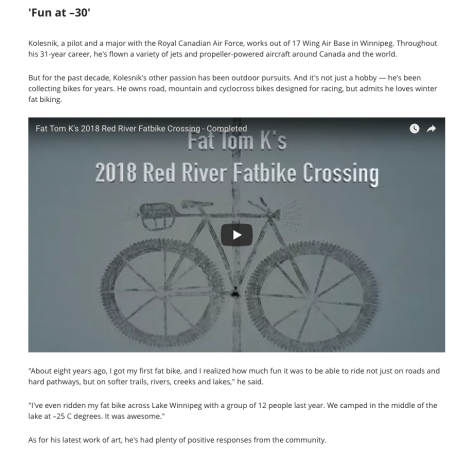 CBC 15 Jan 18 Report - Really Big Fatbike on the River Pic 4