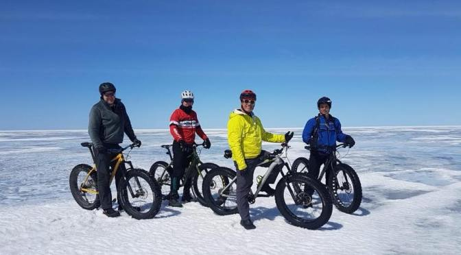 Still Fatbiking on Lake Winnipeg