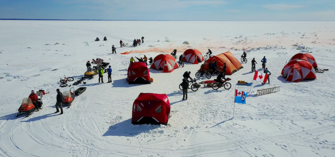 Amazing Day of Fatbike Adventure and Memorial Celebration on Lake Winnipeg!