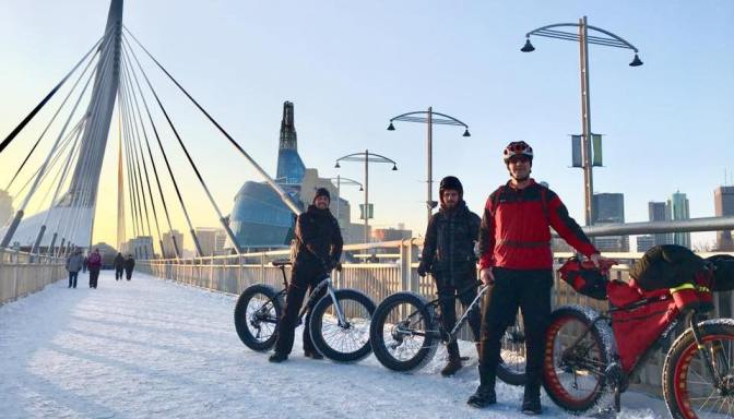 Hosting Visiting Dutch Fatbikers:  CBC News Reports from the Forks