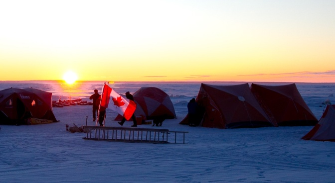 Good Morning from 'Camp Barr' at the Middle of Lake Winnipeg!
