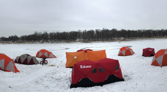 Fat Video Time:  Campsite Trial Setup for the 2018 'Alfred Barr' Lake Wpg Fatbike Crossing & Campover