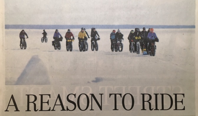"Wpg Free Press Article: ""A Reason to Ride"""