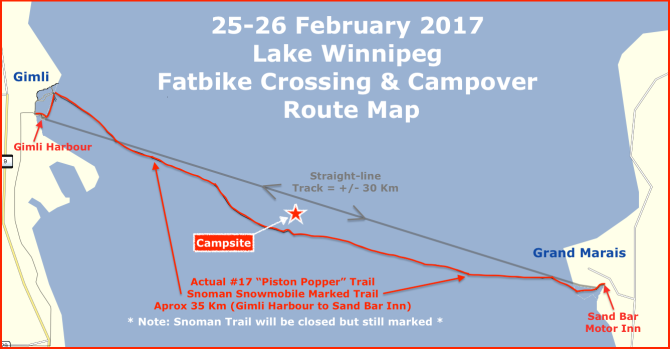 Lake Winnipeg Fatbike Crossing & Campover: 25-26 Feb 2017 – We're a Go!
