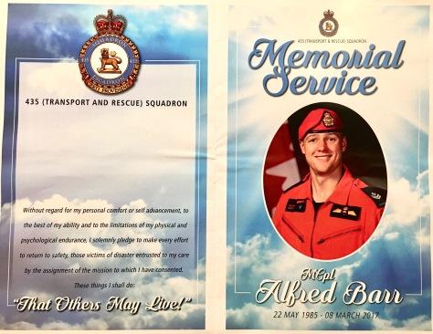 Alfred Barr Memorial Service Handout