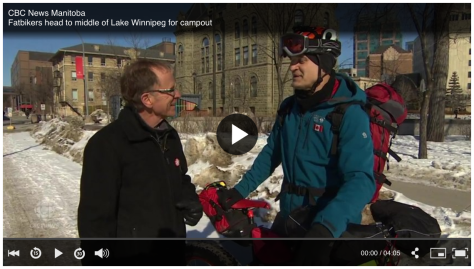 CBC's John Sauder interviews Tom K before 2018 Lake Wpg Fatbike Campout - Pic copy