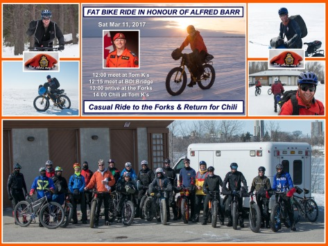 Fat Bike Ride for Alfred Barr - Banner & Group Pic