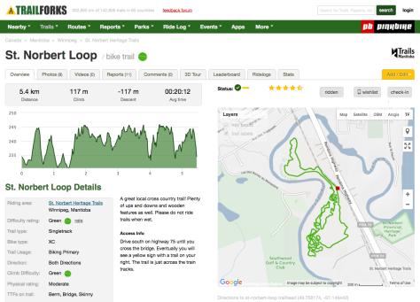 St Norbert Loop Trail - TrailForks