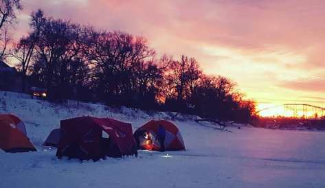 Tent City Camp Site on Red River 13