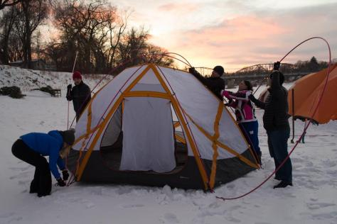 Tent City Camp Site on Red River 14