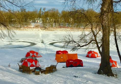 Tent City Camp Site on Red River 21