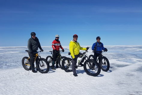 Dave Cushnie Fatbike - Lake Wpg 15 Apr 2018