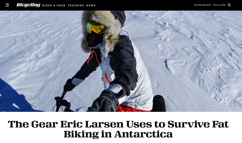 Fatbiking Antarctica - Eric Larson Bucycling Article - 1