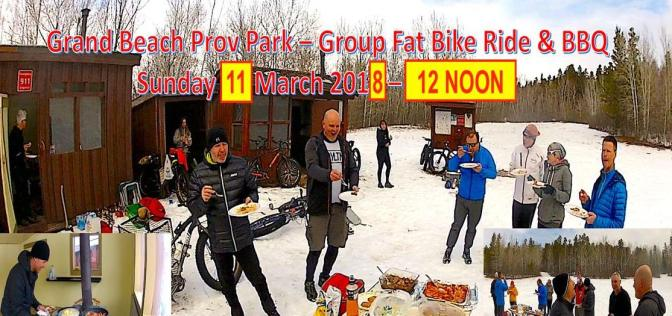 Invite:  Grand Beach Fatbike Group Ride & BBQ – Noon, 11 Mar 2018