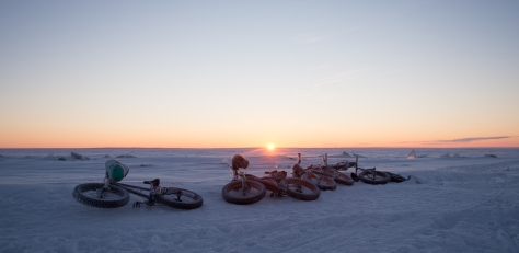 - Gregory's Sunrise with frosty bikes Pic