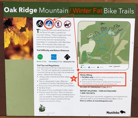Oak Ridge MTB - Fatbike Trail at BHPP - Sign 2 FB Notes