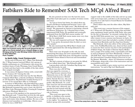 Voxair 21 Mar 18 - Fatbikers Ride to Remember SAR Tech Sgt Alfred Barr - 1