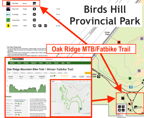Oak Ridge MTB - Fatbike Trail at BHPP - Map & TrailForks