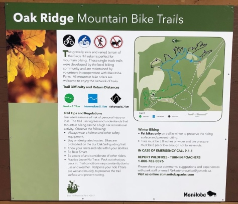 Oak Ridge MTB - Fatbike Trail at BHPP - Sign 2