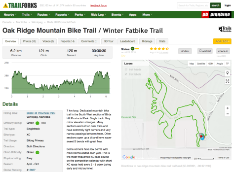 Oak Ridge MTB - FB Trail Forks Map