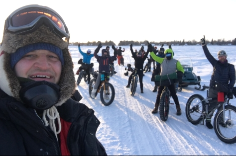 2019 Lake Wpg FB Adventure - bikers heading out