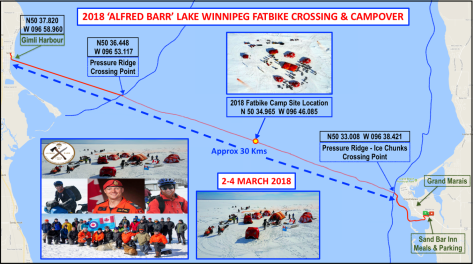 Map 2 - 2018 'Alfred Barr' Lake Wpg Crossing & Campover